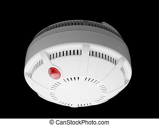 Smoke detector - Smoke and fire detector part of fire alarm...
