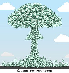 Nuclear explosion of denominations.