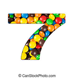 7 - Number of alphabet made of candy Letters from candy...