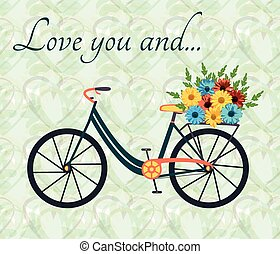 Postcard with bicycle - Postcard for person, who love bike...