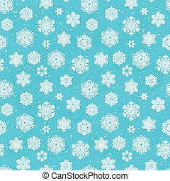 Winter seamless blue pattern