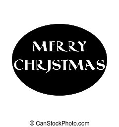 Label with Christmas lettering in old style