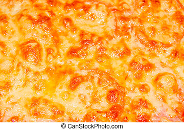 Hot delicious home-cooked pizza