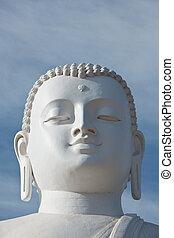 Sitting Budha image face - White sitting Budha image....