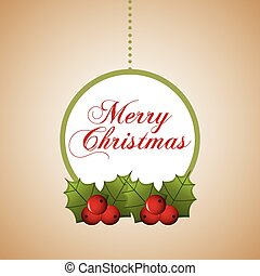 happy merry christmas design, vector illustration eps10...