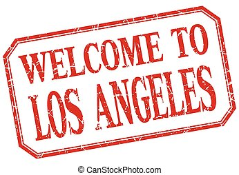 Los Angeles - welcome red vintage isolated label