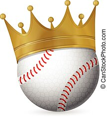 Baseball ball with crown