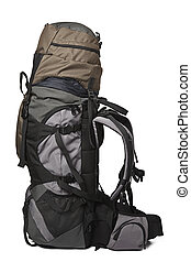 Trekking backpack isolated - Trekking backpack rucksack...