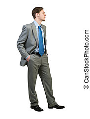 Confident businessman - Full body of young confident...