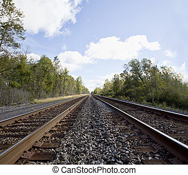 Steel Rails - Railroad lines fade into the distant horizon...