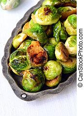 Roasted Brussel Sprouts - Roasted Brussel Sprouts with honey...