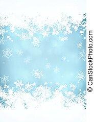 Snow blurred background