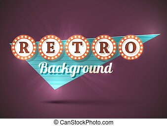 Retro sign background - Retro old style road sign EPS10...