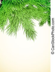 Fir tree branch - Christmas background with a fir tree...