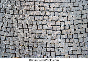 Paved foot path background