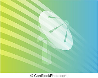 Satellite dish clipart illustrating advanced tele...
