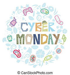 Cyber Monday - Abstract illustration on Cyber Monday