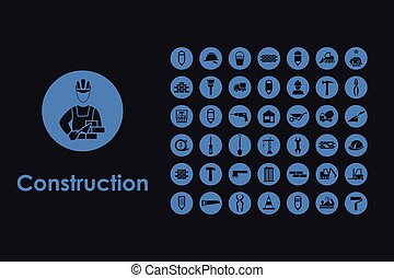 Set of construction simple icons - It is a set of...