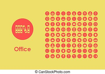 Set of office simple icons - It is a set of office simple...