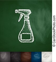 means for cleaning icon Hand drawn vector illustration...