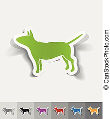 realistic design element. bull terrier - bull terrier paper...