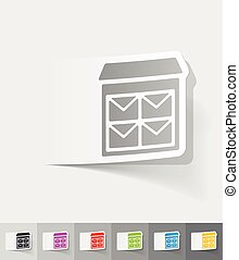 realistic design element. letter-box - letter-box paper...