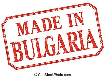 Bulgaria - made in red vintage isolated label
