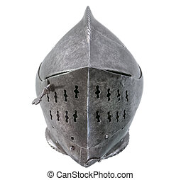 Isolated Warriors Helmet - Warriers Armour Helmet On A White...