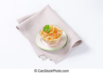 Pickled cabbage salad - White cabbage salad in vinegar brine
