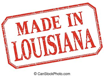 Louisiana - made in red vintage isolated label