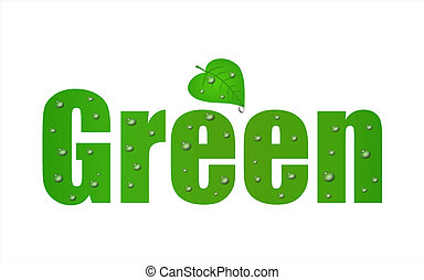 Go Green Leaf with a a white background