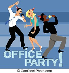Office Party Invitation - Office party with three coworkers...