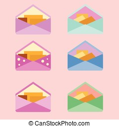 six envelope set