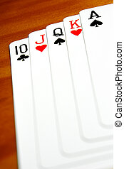Cards Closeup - A good set of playing cards in a background...