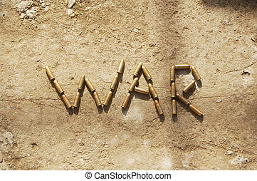 war - War wrote with bullets on concrete