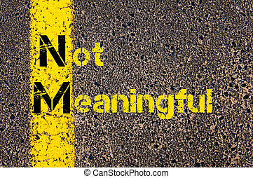 Business Acronym NM as Not Meaningful - Concept image of...