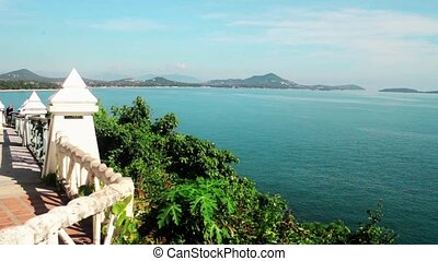 Thailand, Samui Lookout Point, view of beach area -...