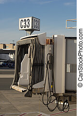 Oct 11, 2015-001 - A jetway at Logan Airport in Boston MA