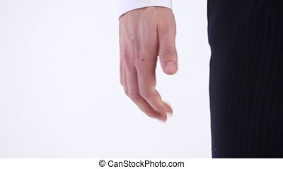 Business Angry Fist - A businessman squeezes his fist when...