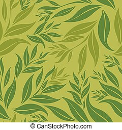 Seamless grunge floral pattern with leafs (From my big...