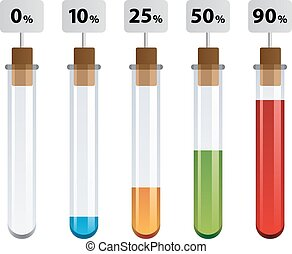 test tubes percent infographic