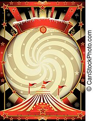 big top cream christmas circus - A vintage circus background...