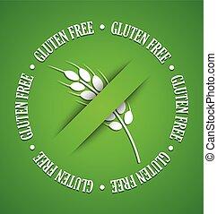 Gluten free sign - White gluten free sign on green...