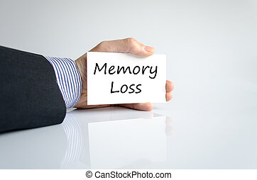 Memory loss text concept