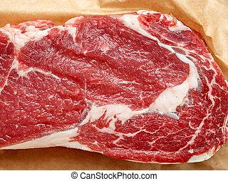 close up of steak