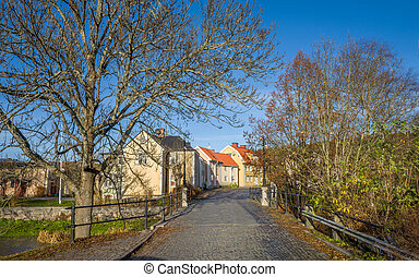 Autumn in Sweden - A sunny autumn day in Soderkoping....