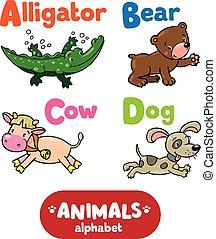 Animals alphabet or ABC.