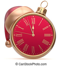 Christmas ball New Years Eve alarm clock bauble decoration...