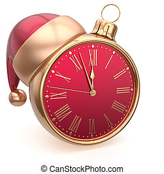 Alarm clock Christmas ball decoration New Years Eve bauble...