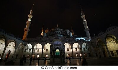 night Blue Mosque